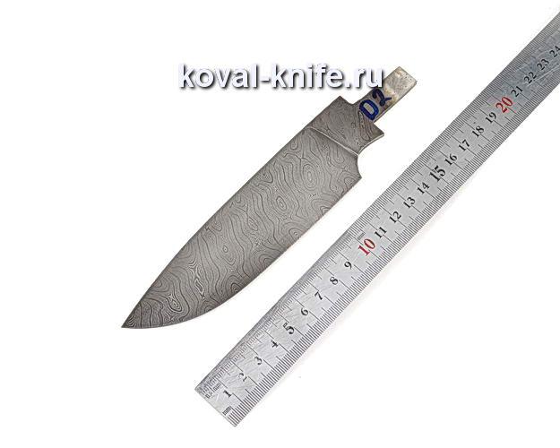 Клинок для охотничьего ножа из дамасской стали d2