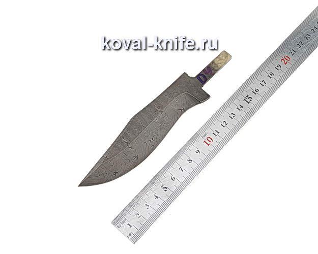Клинок для охотничьего ножа из дамасской стали d4