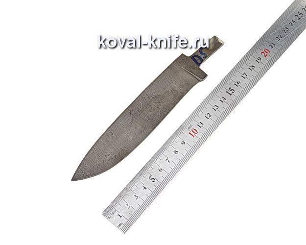 Клинок для охотничьего ножа из дамасской стали d5