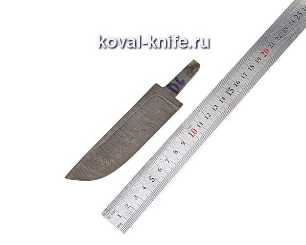 Клинок для охотничьего ножа из дамасской стали d6