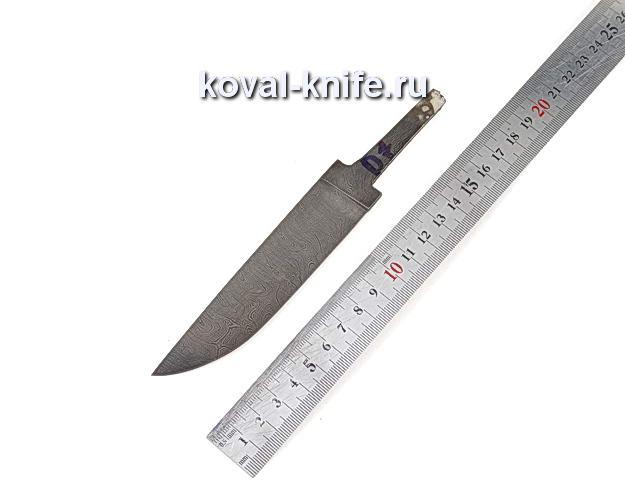 Клинок для охотничьего ножа из дамасской стали d7