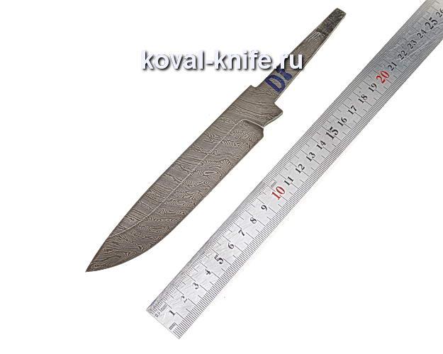 Клинок для охотничьего ножа из дамасской стали d8