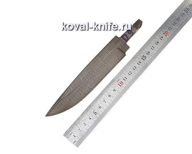 Клинок для охотничьего ножа из дамасской стали d9