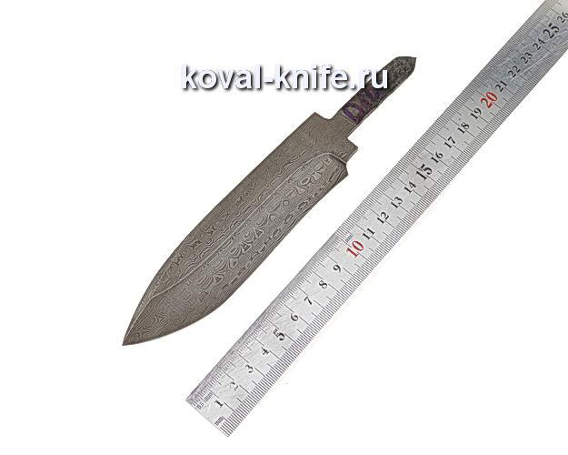 Клинок для охотничьего ножа из дамасской стали d10