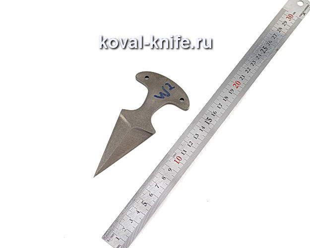 Клинок для тычкового ножа из булатной стали w2