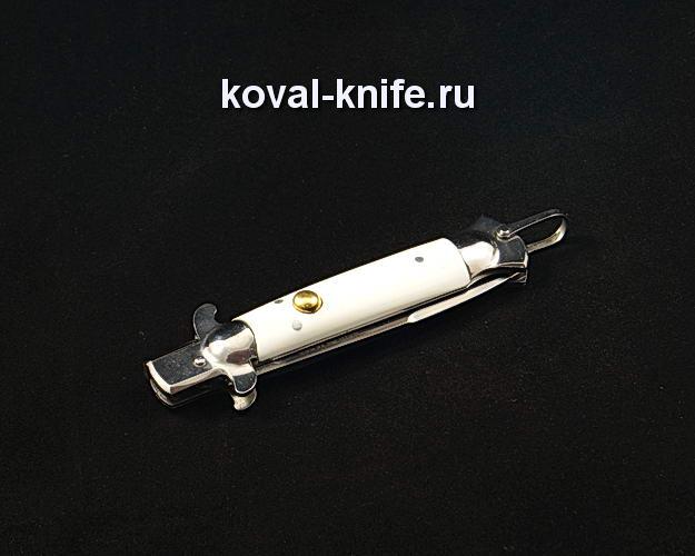 Нож Флинт с белой рукоятью S103 из порошковой стали ELMAX