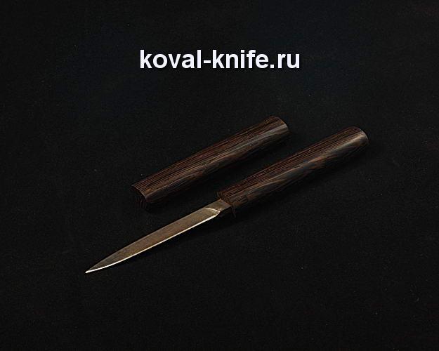 Нож S107 в деревянных ножнах из дамасской стали