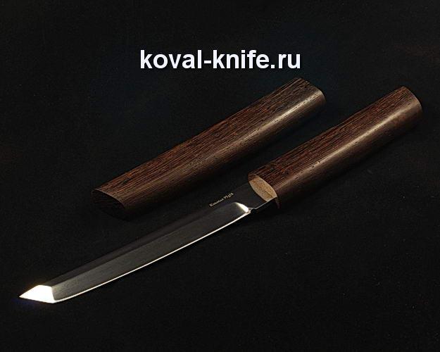Нож Танто в деревянных ножнах S109 из кованой стали 95Х18