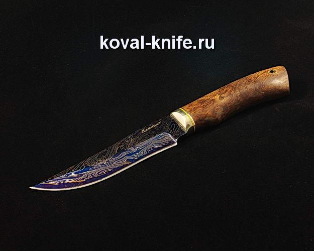 Нож S129 из ламинированной дамасской стали