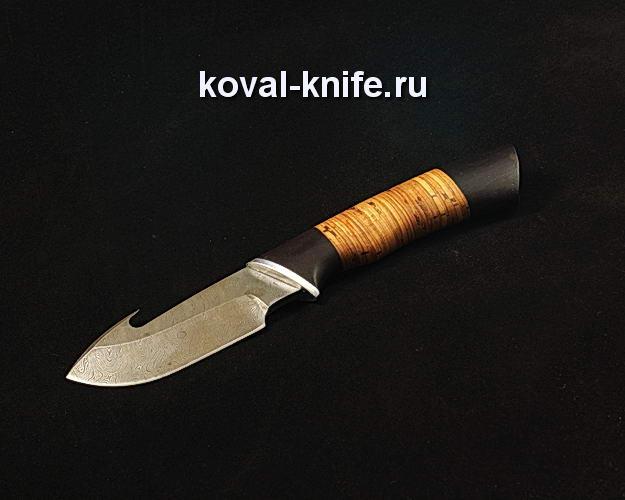 Нож Разделочный с крюком S173 из дамасской стали