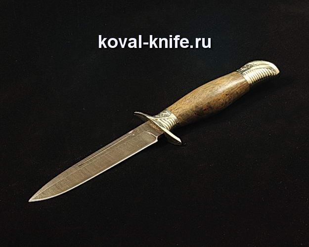 Нож Финка НКВД S211 из дамасской стали с авторским литьем