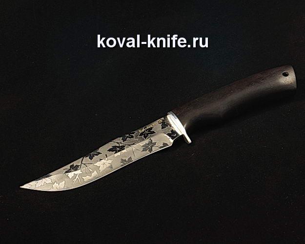 Нож S235 из кованой стали 95Х18 с художественным травлением на клинке