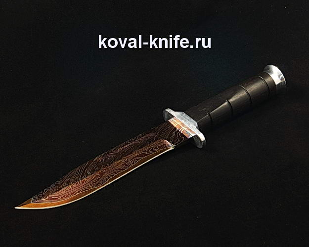 Нож Кабар S27 из ламинированной дамасской стали