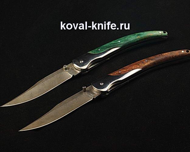 Нож Складной S281 из дамасской стали