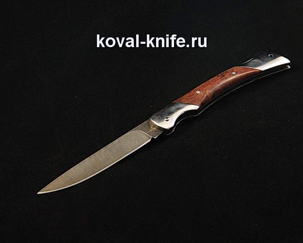 Нож Складной S283 из дамасской стали