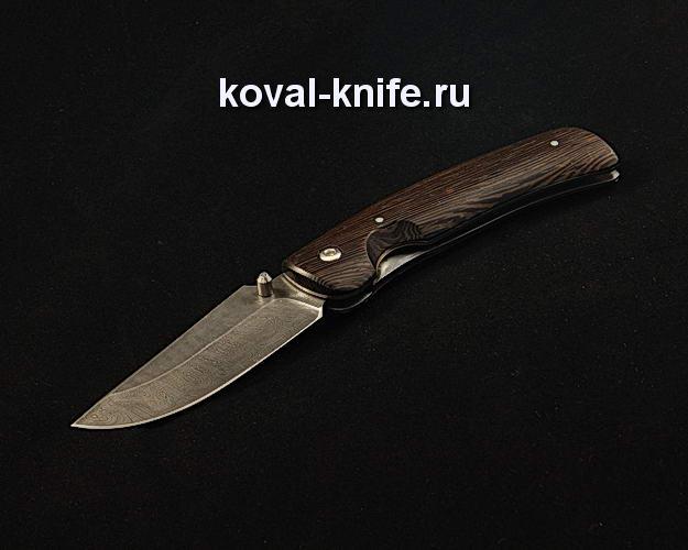 Нож Складной S284 из дамасской стали