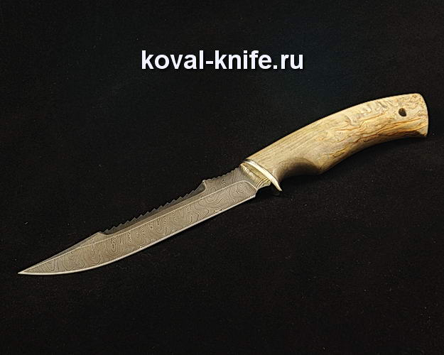 Нож Рыбак S344 из дамасской стали