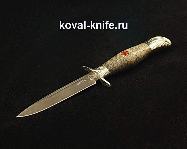 Нож Финка НКВД со звездой S351 из булата с авторским литьем из мельхиора