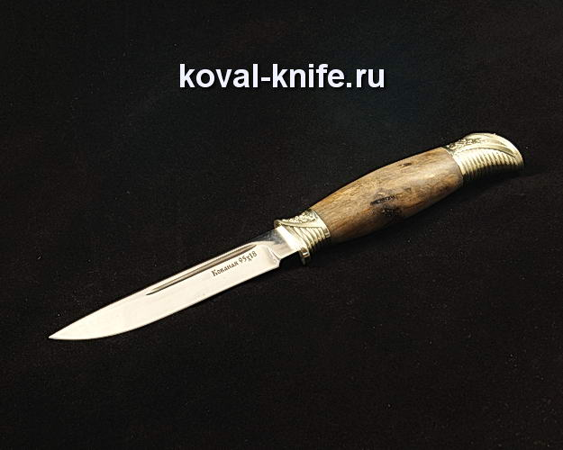 Нож Финка НКВД S355 из 95Х18 с авторским литьем из мельхиора
