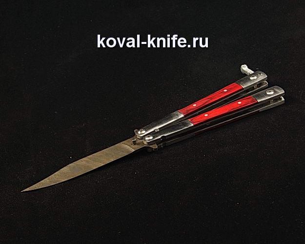 Нож Бабочка S379 из дамасской стали