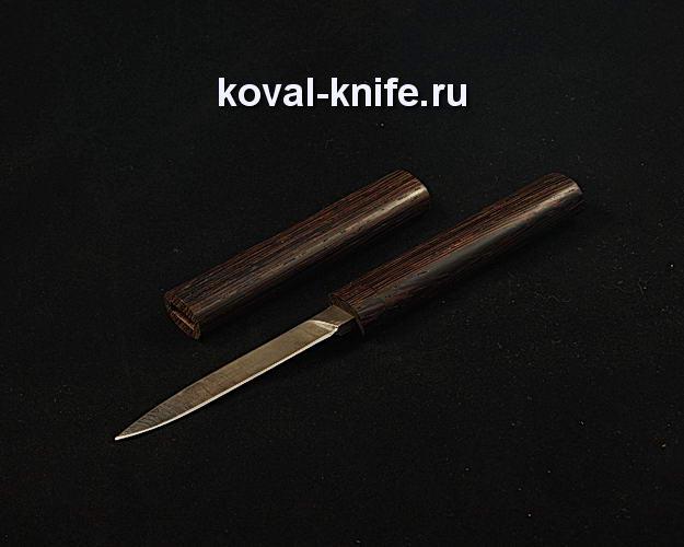 Нож Малыш в деревянных ножнах S61 из дамасской стали