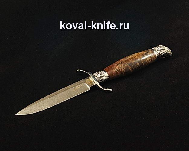 Нож Финка НКВД S88 из булата с авторским литьем из мельхиора