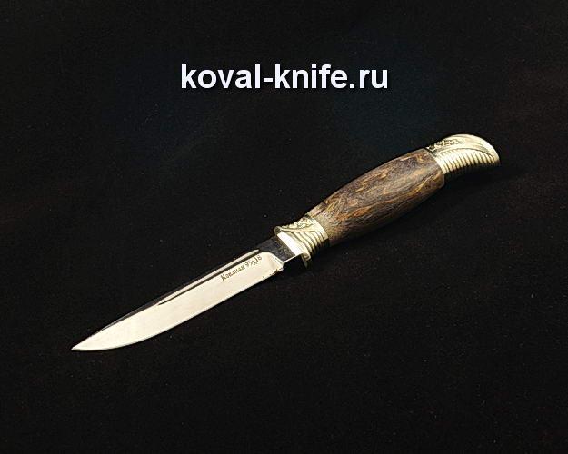 Нож Финка НКВД S90 из кованой 95Х18 с авторским литьем из мельхиора